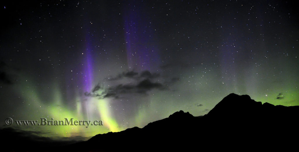 The Aurora in Banff National Park by www.brianmerry.ca