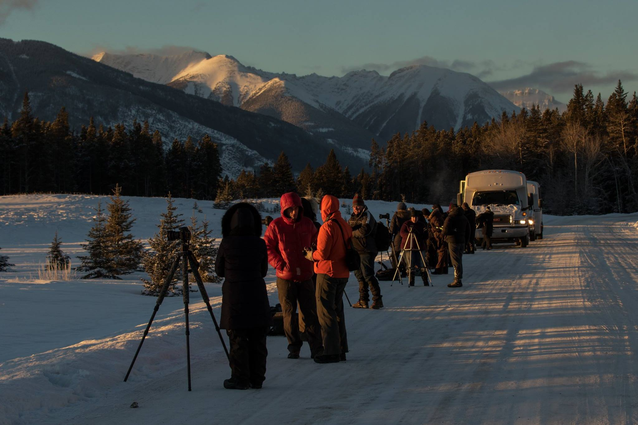 Sunrise during one of the Banff national Park Tours during the 2016 Summit